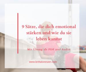 9 Sätze, die dich emotional stärke - Mit Übung als PDF und Audio